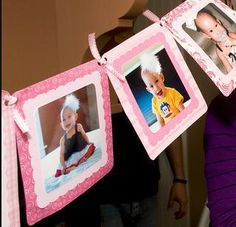 DIY Birthday Banners. Love this photo idea.