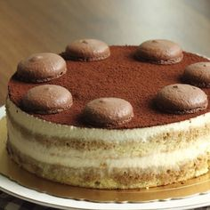 Recipe - Cake tiramisu - Rated by users Bolo Vegan, Vegan Cake, Cake Mix Recipes, Baking Recipes, Dessert Recipes, Food Cakes, Italian Desserts, Italian Recipes, Bolo Tiramisu