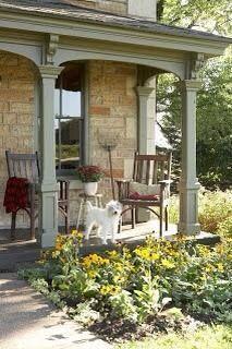 50 Adorable Exterior House Porch Ideas Using Stone Columns - Page 24 of 58 Front Porch Posts, Front Porch Columns, Small Front Porches, Farmhouse Front Porches, Decks And Porches, House Columns, Small Patio, Porch Kits, Porch Ideas