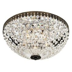 """Empire Spectra Crystal 12"""" Wide Ceiling Light Fixture - Kitchen"""