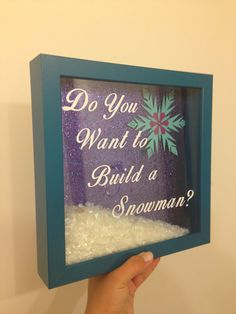 Frozen Shadowbox by TheHuntersOtherHalf on Etsy, $25.00