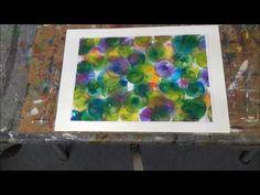 """Acrylmalerei. für Anfänger . erste Schritte- """"Bunte Blasen"""" - YouTube"""
