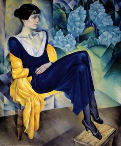 Akhmatova by Altman - Альтман, Натан Исаевич — Википедия Н. Альтман. Портрет А. А. Ахматовой, 1914, ГРМ