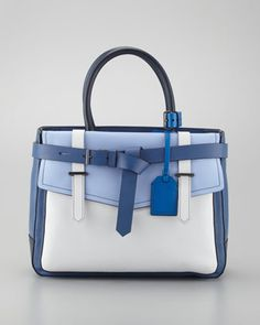 Boxer Tote Bag, Blue/Multicolor by Reed Krakoff at Neiman Marcus.