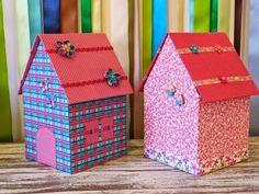 Uma casinha toda delicada e enfeitada para guardar seus pequenos tesouros…   Daniella Abdo, a artesã que apresenta a Técnica da ...