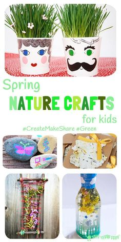 flower sensory bottle- flower week SPRING NATURE CRAFTS FOR KIDS - Shake off the Winter cabin fever and get interacting with Nature outside with these fun and easy ideas. Spring Crafts For Kids, Crafts For Kids To Make, Summer Crafts, Art For Kids, Summer Fun, Baby Crafts, Toddler Crafts, Preschool Crafts, Fun Crafts