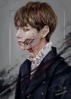 Bts V Taehyung Monster Taehyung Fanart, Bts Taehyung, Bts Bangtan Boy, Bts Jimin, Taekook, Bts Quiz Game, Fansite Bts, V Bts Wallpaper, Bts Drawings
