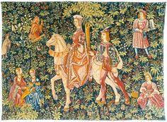 La Noble Amazone Tapestry - Medieval Tapestries - Decor4u.com