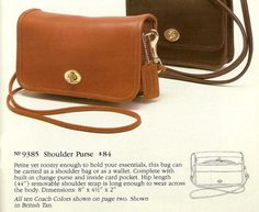 4fc07d2901 9385 Shoulder Purse 1986.jpg Coach Wallet
