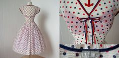 vintage 1950s L'Aiglon victory patriotic sheer two by lolitabee, $210.00