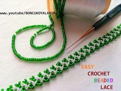 Boncuk Oyası-Easy Crochet Beaded Lace - YouTube