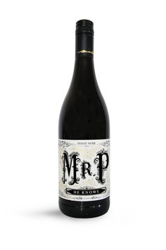 Mr. P (He Knows) Wine label design by Cassandra Leigh Johnson, via Behance