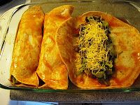 KickStart Fitness and Nutrition: Spinach and Mushroom Enchiladas!