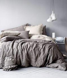 HM Home collection Cozy Bedroom, Dream Bedroom, Master Bedroom, Bedroom Decor, Bedroom Ideas, Bedroom Inspo, Bedroom Designs, Linen Bedroom, Budget Bedroom