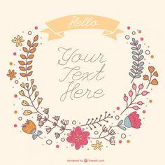 hand-drawn-floral-wreath_23-2147494600.jpg (626×626)