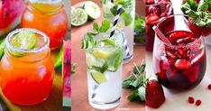 10 PERFECT alcohol-free cocktail recipes to cool off this summer! - Who said that you absolutely need alcohol to make awesome and gourmet cocktails? Fruit Drinks, Non Alcoholic Drinks, Yummy Drinks, Party Drinks, Beverages, Spicy Cranberry Sauce, Cranberry Recipes, Cranberry Punch, Energy Drinks