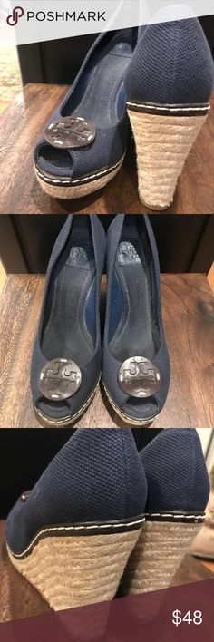 Tory Burch wedges size 11 These wedges are extremely comfortable and great to wear with jeans or dress pants or dresses. Wear it to work with a lot of compliments. Tory Burch Shoes Wedges