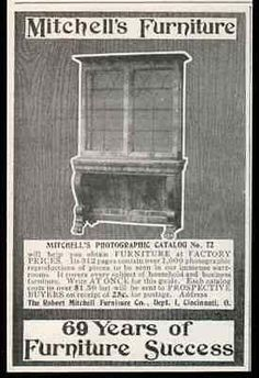 Mitchells Furniture Home Business 1905 Antique AD