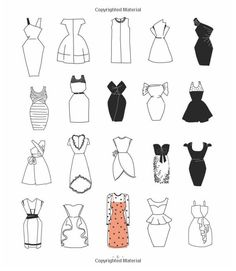 pencil drawings - 20 Ways to Draw a Dress and 44 Other Fabulous Fashions and Accessories A Sketchbook for Artists, Designers, and Doodlers Julia Kuo 978159 Fashion Sketchbook, Fashion Illustration Sketches, Illustration Mode, Fashion Sketches, Art Sketches, Dress Design Sketches, Fashion Design Drawings, Dress Drawing, Drawing Clothes