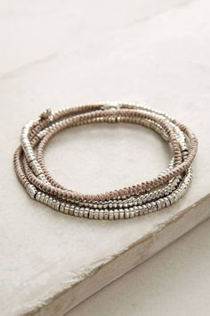 Anthropologie Mint Twisted Wrap Bracelet