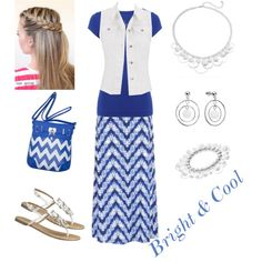 Bright & Cool Outfit by modesty-forhisglory on Polyvore