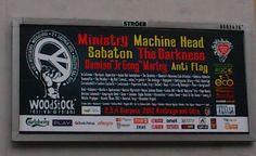 Werbung des Festivals Haltestelle Woodstock (2.-4. August 2012), Küstrin an der Oder