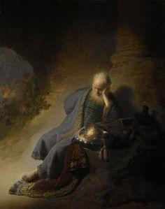 Jeremiah Lamenting the Destruction of Jerusalem, 1630, Rembrandt van Rijn