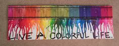 Crayon art - present for a friend