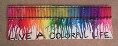 Crayon art - present for a friend