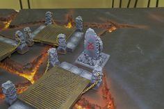 Chaos Lava Bridge Set Shrines of Khorne  Basic assembly, Basic painting