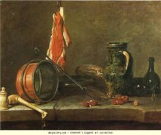 Jean-Baptiste-Simeon Chardin. A Lean Diet with Cooking Utensils.  1731
