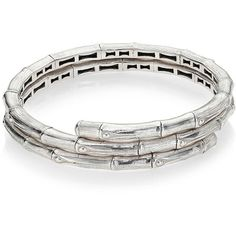 John Hardy Bamboo Small Sterling Silver Double Coil Bracelet (43.885 RUB) ❤ liked on Polyvore featuring jewelry, bracelets, apparel & accessories, silver, bamboo bangles, sterling silver jewellery, john hardy jewelry, sterling silver bangles and john hardy