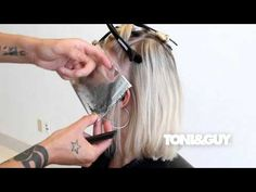How to Color & Highlight Hair | TONI&GUY Hair Color Technique [Platinum blonde / Champagne blonde] - YouTube