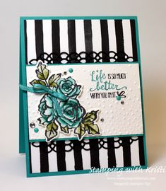 Stampin' Up! Petal Palette card by Kristi @ www.stampingwithkristi.com