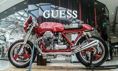 Moto Guzzi Motorcycles, Motorcycles For Sale, Brat Cafe, Cafe Racer Girl, Cafe Bike, Bikes For Sale, Royal Enfield, Car Shop, Sidecar