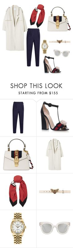 """#gucci women #street style"" by maral-usefi ❤ liked on Polyvore featuring Roksanda, Gucci, MANGO and Rolex"