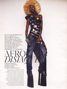 """Beautiful """"Afrodisiaque"""" editorial shot by Mario Testino and Styled by French Vogue Fashion Editor Carine Roitfeld – [ French Vogue Oct. 08 ]"""