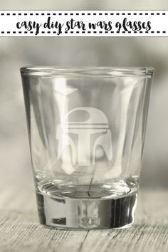 Make these fabulous Star Wars glasses with the easy DIY from Everyday Party Magazine #StarWars #CricutMade #GlassEtching #FathersDay
