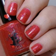 Painted Nubbs: Spellbound Nails Be My Valentine Trio One Hot Tamale