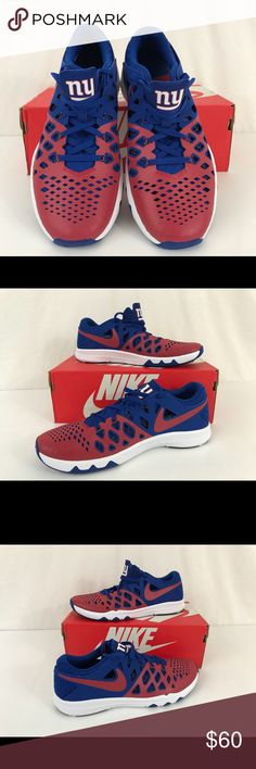 lowest price 1318f 04f86 Men s Nike Train Speed Amp S 10 NEW YORK GIANTS Brand New Does not include  box