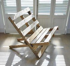 Rauwe stoel van pallets - EYEspired