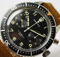 Italian-Military-AirForce-Zenith-Cairelli-PILOTS-watch-Chronograph-Cal-146