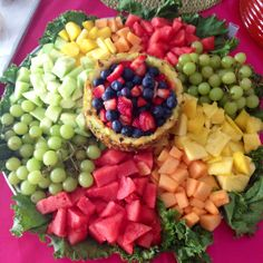 Delicious fruit platter I made!