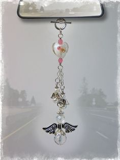 DIY your photo charms, 100% compatible with Pandora bracelets. Make your gifts special. Make your life special! Angel Car Charm - Rear View Mirror Car Accessories | Our Bead Box™ Blog