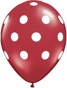 We are in love with these red polka dot balloons! Perfect for decorating your party table or sending home as favors with your guests! Sold in sets of 10. Great for dressing up your hot cocoa bar! Shop more colors at http://www.shop-fancythat.com/collections/balloons/products/11-inch-red-polka-dot-balloons