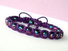 Purple Bracelet Unique Shamballa Bracelet Handmade by CITBhandmade