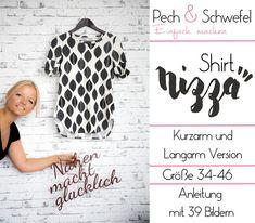 Nähanleitungen Mode - Ebook Shirt NIZZA - mit kurzem und langem Arm - ein Designerstück von Naehen-mit-Pech-und-Schwefel bei DaWanda