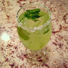 The unofficial theme of my sister's recent visit here was margaritas and guacamole. Alcohol Cleanse, Jalapeno Margarita, Yummy Drinks, Cilantro, Guacamole, Party Ideas, Dinner, Cooking, Desserts