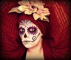 sugar skull, face paint