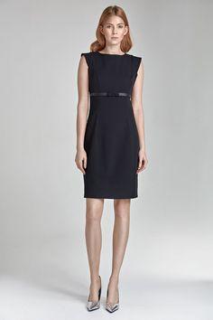 e66505046dd Détails sur Robe noire élégante femme sans Manches ajustée S36 Nife 36 38  40 42 44